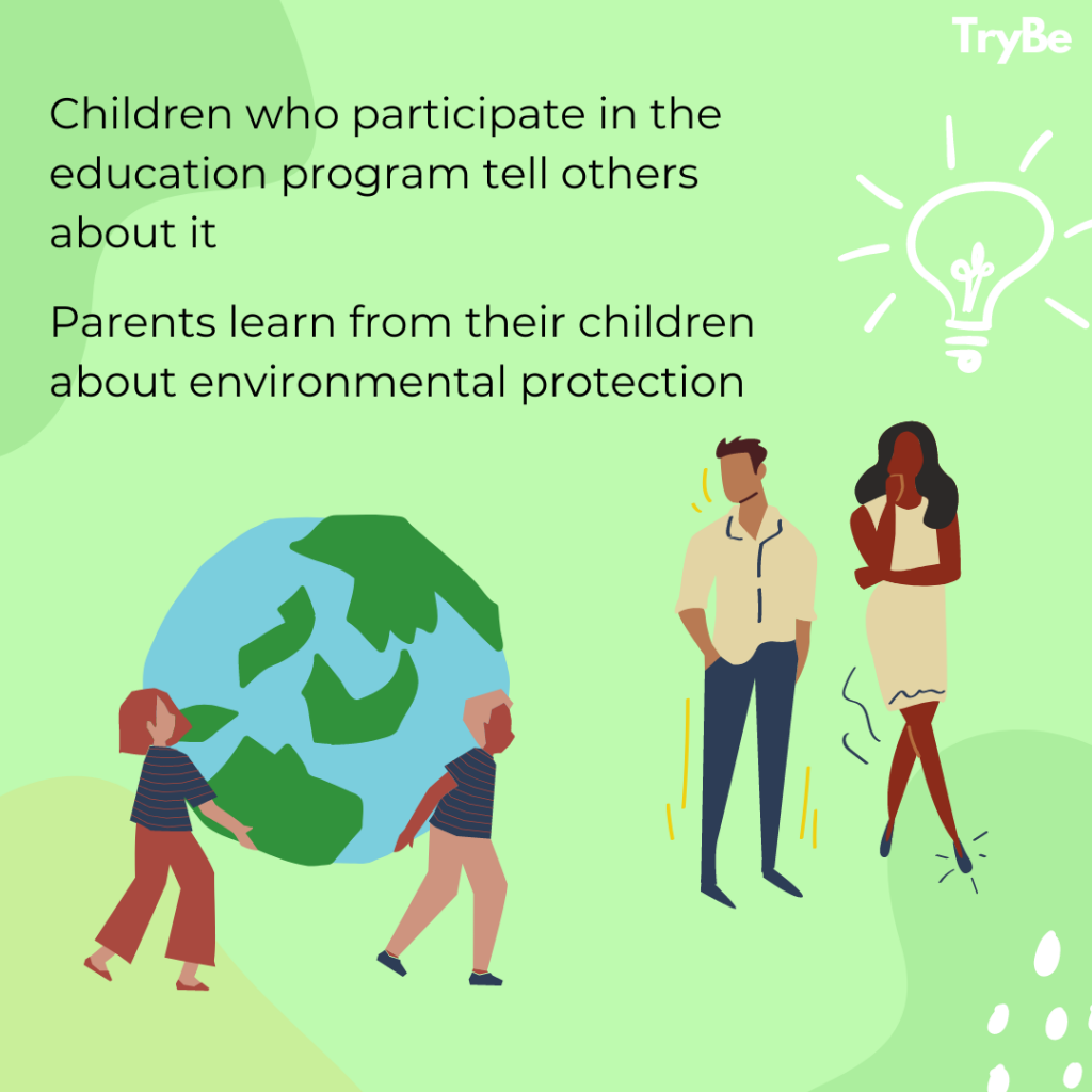 Parents learn from their children about environmental protection
